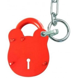 Accessible padlock with chain